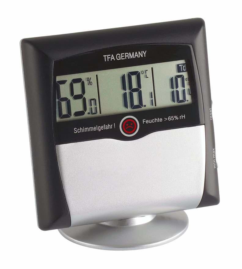 Digitales Trotec Hygrometer in schwarzer Ausführung
