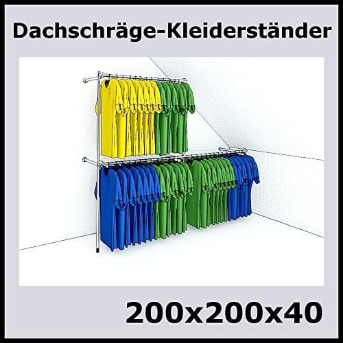 Kleiderständer für Dachschrägen