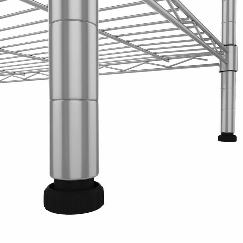 Homedox Metall Steckregal mit 5 Gitterböden