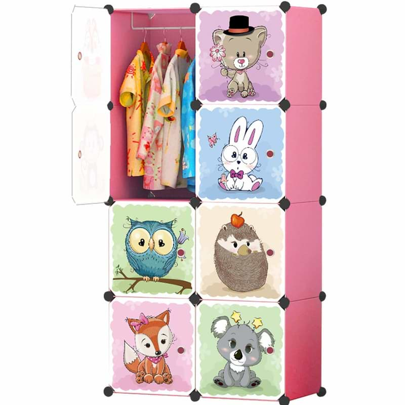 Steckregal für Kinderzimmer mit Tiermotiven